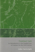 Cover of Contract Law: An Introduction to the English Law of Contract for the Civil Lawyer