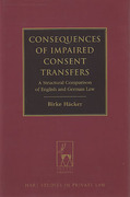 Cover of Consequences of Impaired Consent Transfers: A Structural Comparison of English and German Law