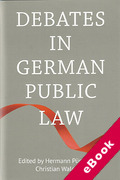Cover of Debates in German Public Law (eBook)