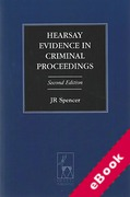 Cover of Hearsay Evidence in Criminal Proceedings (eBook)