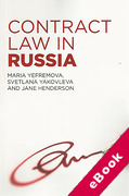 Cover of Contract Law in Russia (eBook)