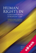 Cover of Human Rights in Contemporary European Law Volume 6 (eBook)