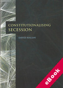 Cover of Constitutionalising Secession (eBook)