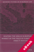 Cover of Shaping the Single European Market in the Field of Foreign Direct Investment (eBook)