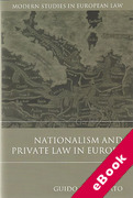 Cover of Nationalism and Private Law in Europe (eBook)