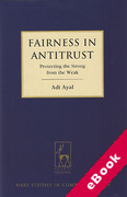 Cover of Fairness in Antitrust: Protecting the Strong from the Weak (eBook)