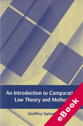 Cover of An Introduction to Comparative Law Theory and Method (eBook)