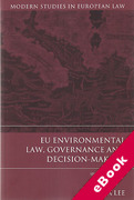 Cover of EU Environmental Law, Governance and Decision-making (eBook)