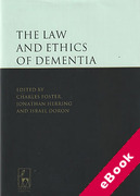 Cover of The Law and Ethics of Dementia (eBook)