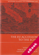 Cover of The EU Accession to the ECHR (eBook)