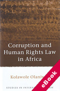 Cover of Corruption and Human Rights Law in Africa (eBook)