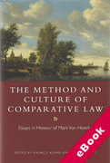 Cover of The Method and Culture of Comparative Law: Essays in Honour of Mark Van Hoecke (eBook)