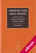 Cover of Criminal Fair Trial Rights: Article 6 of the European Convention on Human Rights (eBook)