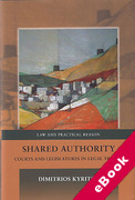 Cover of Shared Authority: Courts and Legislatures in Legal Theory (eBook)
