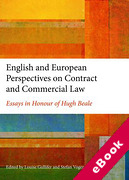Cover of English and European Perspectives on Contract and Commercial Law: Essays in Honour of Hugh Beale (eBook)