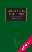 Cover of Causation in Negligence (eBook)