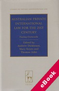 Cover of Australian Private International Law for the 21st Century: Facing Outwards (eBook)