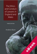 Cover of The Ethics and Conduct of Lawyers in the United Kingdom (eBook)