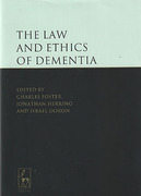 Cover of The Law and Ethics of Dementia