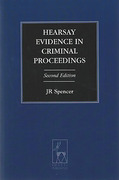 Cover of Hearsay Evidence in Criminal Proceedings