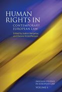 Cover of Human Rights in Contemporary European Law Volume 6