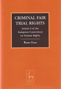 Cover of Criminal Fair Trial Rights: Article 6 of the European Convention on Human Rights