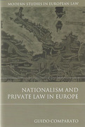 Cover of Nationalism and Private Law in Europe