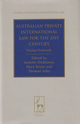 Cover of Australian Private International Law for the 21st Century: Facing Outwards