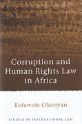 Cover of Corruption and Human Rights Law in Africa