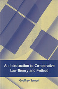 Cover of An Introduction to Comparative Law Theory and Method