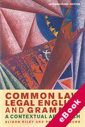 Cover of Common Law Legal English and Grammar: A Contextual Approach (eBook)