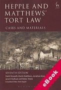 Cover of Hepple and Matthews' Tort Law Cases & Materials (eBook)
