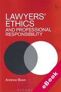 Cover of Lawyers' Ethics and Professional Responsibility (eBook)