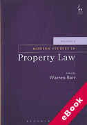 Cover of Modern Studies in Property Law: Volume 8 (eBook)