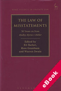 Cover of The Law of Misstatements: 50 Years On from Hedley Byrne v Heller (eBook)