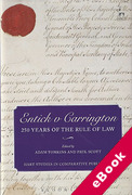 Cover of Entick v Carrington: 250 Years of the Rule of Law (eBook)