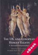 Cover of The UK and European Human Rights: A Strained Relationship? (eBook)