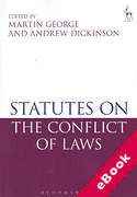 Cover of Statutes on the Conflict of Laws (eBook)