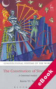 Cover of Constitution of Singapore: A Contextual Analysis (eBook)