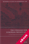 Cover of The Struggle for European Private Law: A Critique of Codification (eBook)