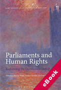 Cover of Parliaments and Human Rights: Redressing the Democratic Deficit (eBook)