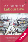 Cover of The Autonomy of Labour Law (eBook)
