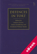 Cover of Defences in Tort (eBook)