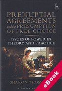 Cover of Prenuptial Agreements and the Presumption of Free Choice: Issues of Power in Theory and Practice (eBook)