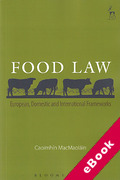 Cover of Food Law: European, Domestic and International Frameworks (eBook)