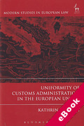 Cover of Uniformity of Customs Administration in the European Union (eBook)