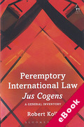 Cover of Peremptory International Law - Jus Cogens: A General Inventory (eBook)