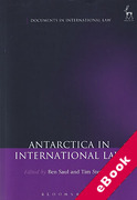 Cover of Antarctica in International Law (eBook)