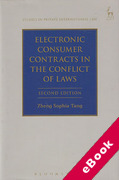 Cover of Electronic Consumer Contracts in the Conflict of Laws (eBook)