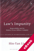 Cover of Law's Impunity: Responsibility and the Modern Private Military Company (eBook)